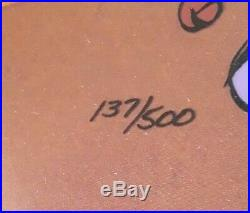 Chuck Jones' Daffy Duck as Rude Jester Ltd. Ed. Signed Animation Cel #137/500