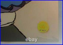 Chuck Jones, Daffy Mine Mine Mine LTD ED. HAND SIGNED Sericel WITH COA 262/500
