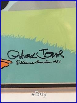 Chuck Jones Duck Season Wabbit Season! Signed And Numbered Cel