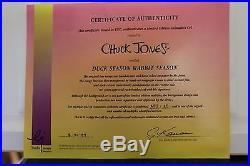 Chuck Jones Duck Season Wabbit Season! Signed And Numbered Cel AP3/25