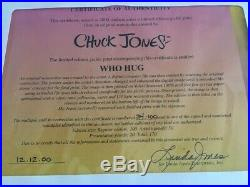 Chuck Jones Grinch Limited Edition Giclee Who Hug -signed & Numbered W / Cert