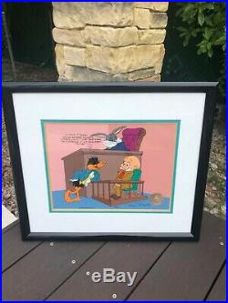 Chuck Jones Hand Painted Limited Edition Cel Dethpicable Courtroom Signed
