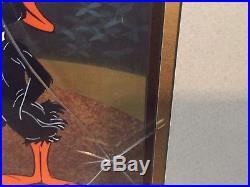 Chuck Jones Hand Painted Signed CelDaffy Beakhead with Elmer Fudd & Daffy Duck