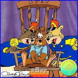Chuck Jones Hand Signed Animation Cel BEAR FOR PUNISHMENT COA