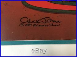 Chuck Jones Hand Signed Animation Cel BUGS BUNNY DAFFY DUCK WILE E COYOTE fr