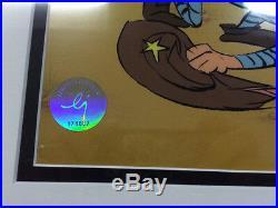 Chuck Jones Hand Signed Animation Cel BUGS BUNNY Framed Sir Loin of Beef COA fr