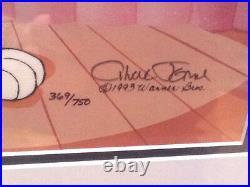 Chuck Jones Hand Signed Animation Cel BUGS BUNNY PEPE LE PEW Framed WB COA fr
