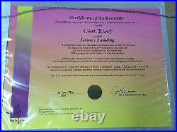 Chuck Jones Hand Signed Animation Cel DAFFY DUCK Framed LOONEY LANDING COA