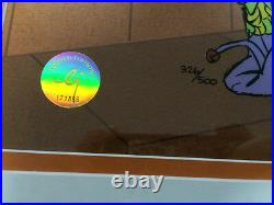 Chuck Jones Hand Signed Animation Cel DAFFY DUCK Framed RUDE JESTER COA fr