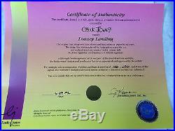 Chuck Jones Hand Signed Animation Cel DAFFY DUCK Looney Landing COA WB