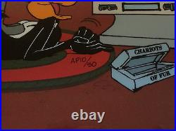 Chuck Jones Hand Signed Animation Cel JUST FUR LAUGHS Framed BUGS BUNNY 10/50