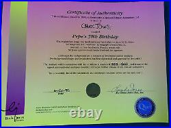 Chuck Jones Hand Signed Animation Cel PEPE LE PEW BUGS BUNNY BIRTHDAY WB COA
