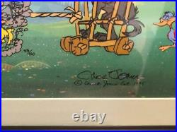 Chuck Jones Hand Signed Animation Cel PETER AND THE WOLF Framed COA Bugs Bunny