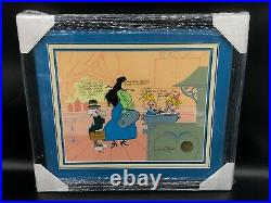 Chuck Jones Hand Signed Bugs and Witch Hazel Truant Officer /750 Limited Edition