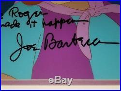 Chuck Jones & Joe Barbara personally drawn & signed Animation Cels & Card RARE