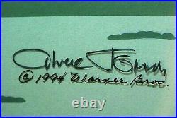 Chuck Jones-Le Pursuit-Hand Painted LE Animation Cel Diptych/Hand Signed/COA