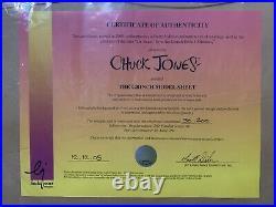 Chuck Jones Limited Edition The Grinch Model Sheet 2005