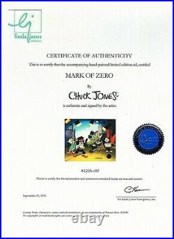 Chuck Jones-Mark of Zero-Sold Out Ltd Ed Animation Cel/Hand-Pained Color/COA