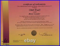 Chuck Jones Meter Leader Marvin The Martian Lt Ed Cel Signed 16/500