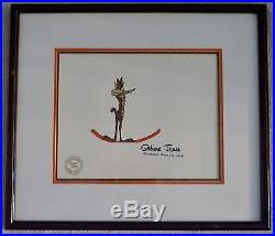 Chuck Jones Original Production Cel Wile E Coyote Signed Hand Painted Dated 1979
