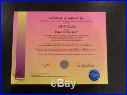 Chuck Jones PETER & THE WOLF Rare LE Cel (47/150) Hand Signed 1995 COA Framed