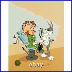 Chuck Jones Rabbit of Seville IIIBugs Hand Signed painted Looney Tunes cel COA