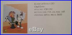 Chuck Jones Rabbit of Seville III Hand Painted LE Cel, Unframed Signed COA