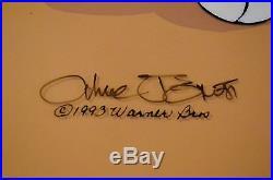 Chuck Jones Rabbitt Of Seville III Signed/# Ltd Ed Hand Painted Coa Dated 1993