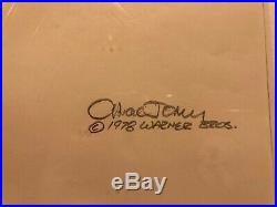 Chuck Jones SIGNED Animation Cel and Drawing Bugs Bunny King Arthur 1/1 1993 COA