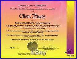 Chuck Jones SIGNED Bugs & Witch Hazel Truant Officer Limited Edition W COA