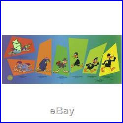 Chuck Jones SIGNED Evolution Of Daffy Hand Painted Limited Edition Sericel