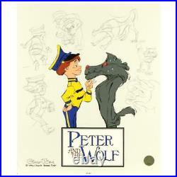 Chuck Jones SIGNED Peter and the Wolf CS Painted Limited Edition Sericel