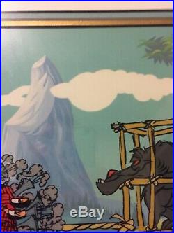 Chuck Jones SIGNED Peter and the Wolf Limited Edition Hand Painted Sericel