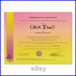 Chuck Jones SIGNED Rabbit Of Seville Painted Limited Edition Sericel COA