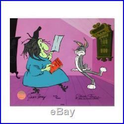 Chuck Jones SIGNED Rabbit Recipes Hand Painted Limited Edition Sericel COA