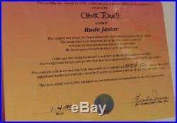Chuck Jones SIGNED Rude Jester A/P 24/50 Limited Edition Sericel COA