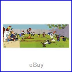 Chuck Jones SIGNED Sandlot Hand Painted Limited Edition Looney Tunes Sericel