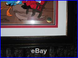 Chuck Jones Santa On Trial! Le Cel Signed By Chuck Jones 1995 Framed Coa