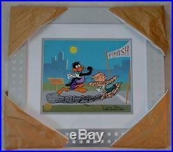 Chuck Jones Sausage Factory Animation Cel Signed/coa/ #346/500 /proff. Framed