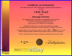 Chuck Jones-Sausage Factory-Sold Out Ltd Ed Animation Cel/Hand-Pained Color/COA