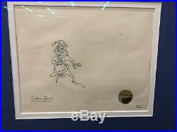 Chuck Jones Signed Animation CEL and Drawing Limited Edition 1966