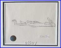 Chuck Jones Signed Animation Cel And Drawing Limited Edition 1/1 1993 Coa