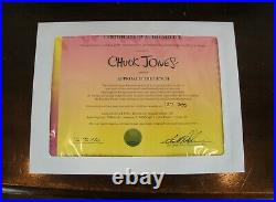Chuck Jones Signed Animation Cel Approach the Bench Looney Tunes Warner Bros COA