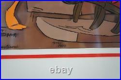 Chuck Jones Signed Animation Cel Santa on Trial Looney Tunes Warner Bros COA