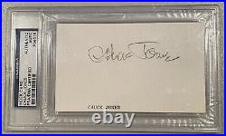 Chuck Jones Signed Autographed 3x5 Card PSA DNA Certified Slabbed Loony Tunes