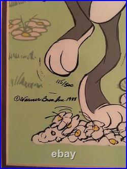 Chuck Jones Signed Bugs Bunny Ltd Edition Animation Cel Birthday Card to Linda