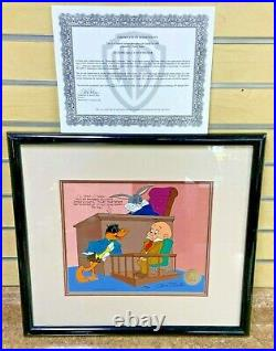 Chuck Jones Signed Cel Dethpicable Courtroom WB Looney Tunes Bugs Daffy Elmer