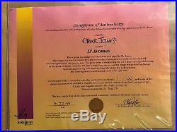 Chuck Jones Signed D Aromas Pepe Le Pew LE Diptych Drawing Animated Cel