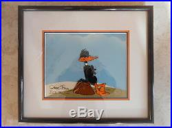 Chuck Jones Signed Daffy Duck Animation Cel 85/100 Warner Bros. 1982