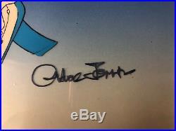 Chuck Jones Signed Daffy Duck Hand Painted Production Cel Custom Framed